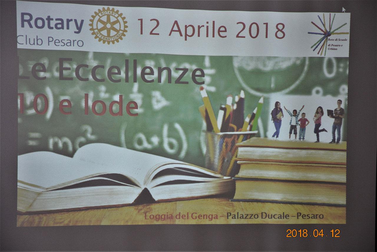 """8ab4face85 12 aprile 2018 – Premiazione dei vincitori delle 10 borse di studio per gli  studenti """"eccellenti""""! – RotaryClub Pesaro"""